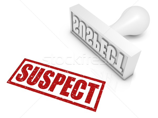 Suspect Rubber Stamp Stock photo © OutStyle