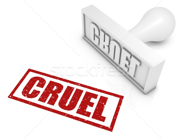 Cruel Rubber Stamp Stock photo © OutStyle