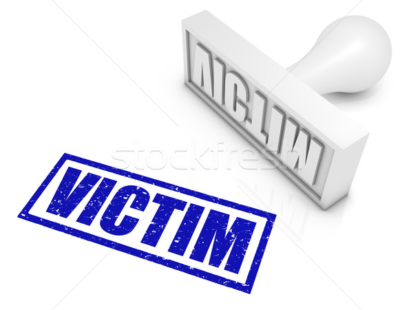 Victim Rubber Stamp Stock photo © OutStyle