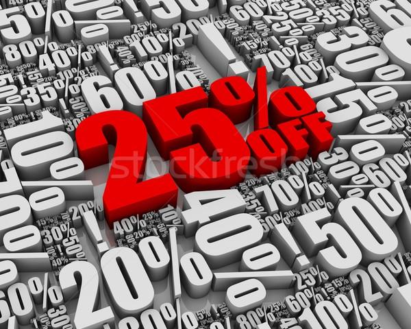 Verkauf 25 aus Batch 3D Worte Stock foto © OutStyle