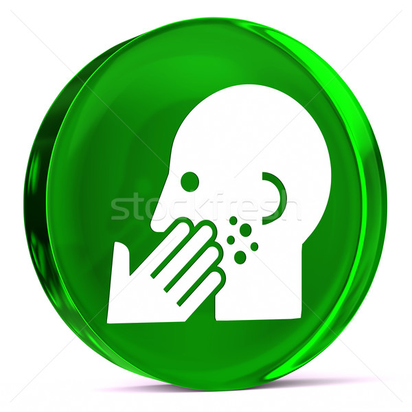 Dermatoloji cam ikon beyaz sağlık imzalamak Stok fotoğraf © OutStyle