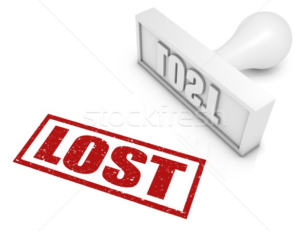 Lost Rubber Stamp Stock photo © OutStyle