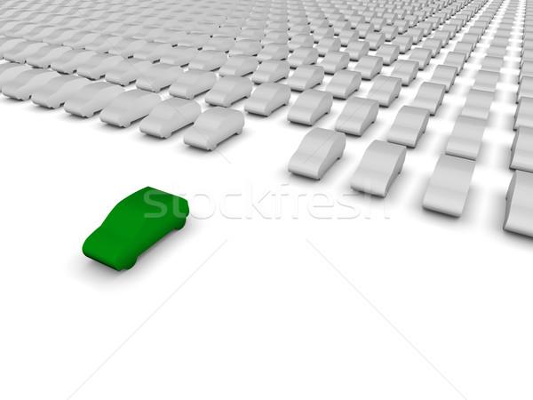 Verde carro estacionamento grupo sucesso alvo Foto stock © OutStyle