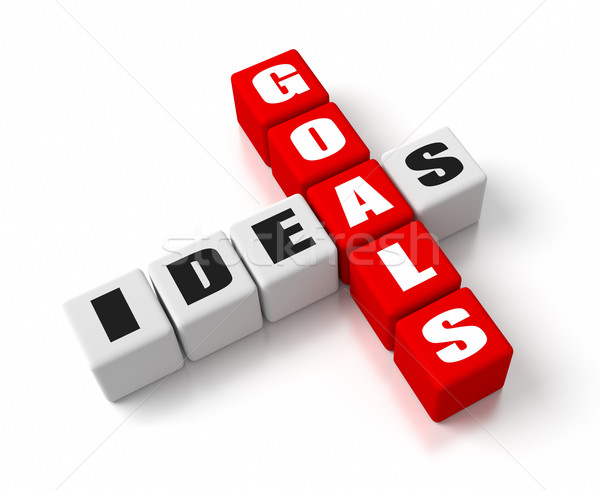 Goals Ideas Red Stock photo © OutStyle
