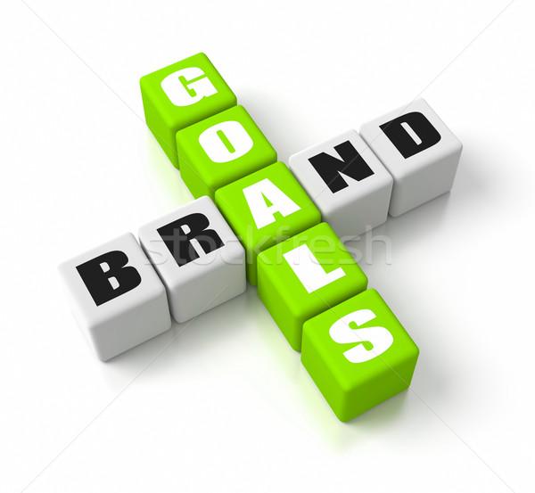 Merk doelen groene business succes Stockfoto © OutStyle