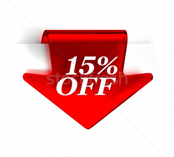 Tizenöt százalék el piros üveg felső Stock fotó © OutStyle