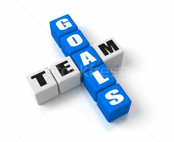 Team Goals Blue Stock photo © OutStyle