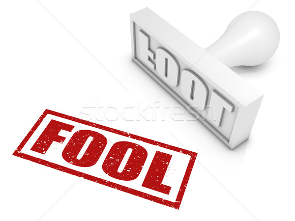 Fool Rubber Stamp Stock photo © OutStyle