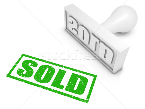 Vendido negocios verde venta conceptos Foto stock © OutStyle
