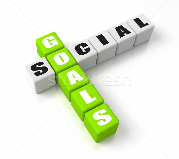 Social Goals Green Stock photo © OutStyle