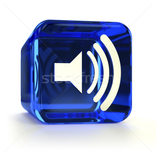 Blue Sound On Icon Stock photo © OutStyle