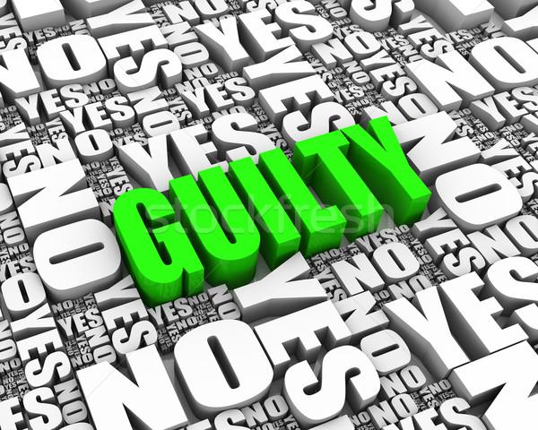 Culpado texto 3d calendário datas lei justiça Foto stock © OutStyle