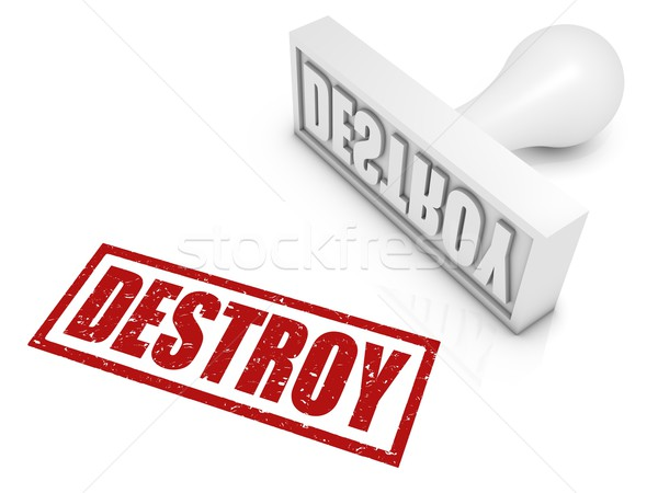 Destroy Rubber Stamp Stock photo © OutStyle