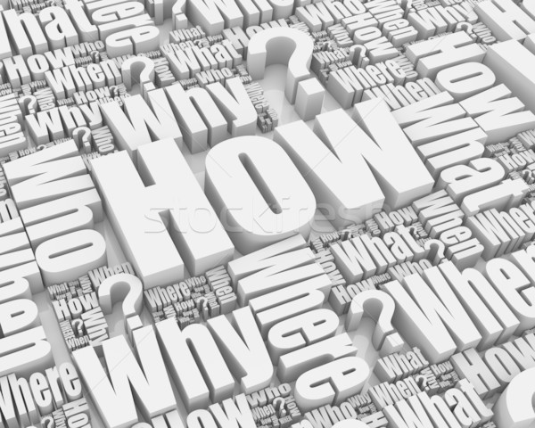 Grup 3D sözler strateji metin çözüm Stok fotoğraf © OutStyle