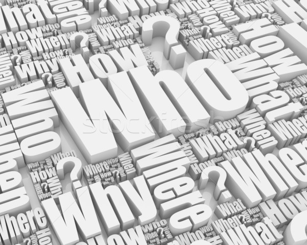 Who? Stock photo © OutStyle