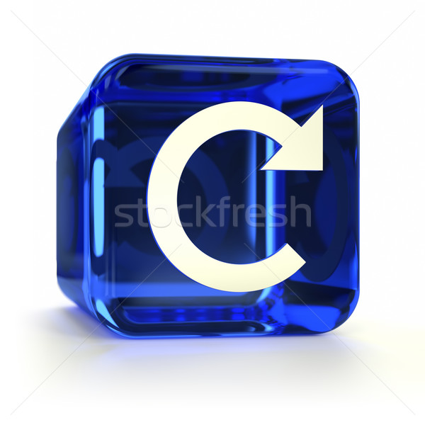 Blue Refresh Icon Stock photo © OutStyle