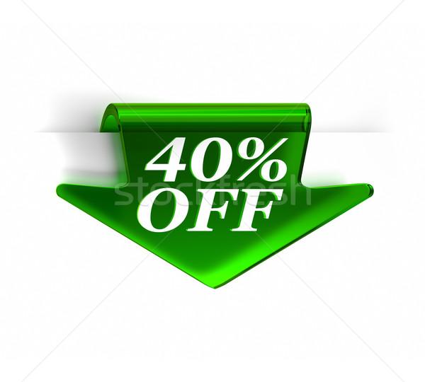 Quarante pour cent vert verre haut Photo stock © OutStyle