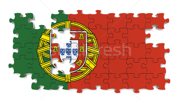 Portuguese National Flag Stock photo © OutStyle