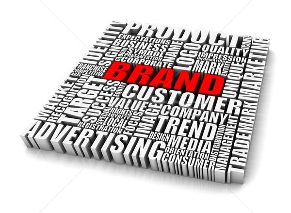 марка группа слов бизнеса красный Сток-фото © OutStyle