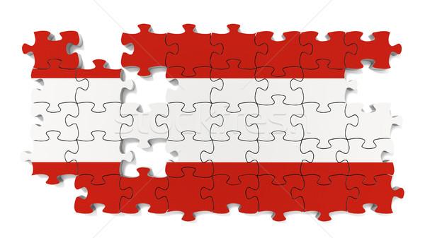Austrian National Flag Stock photo © OutStyle