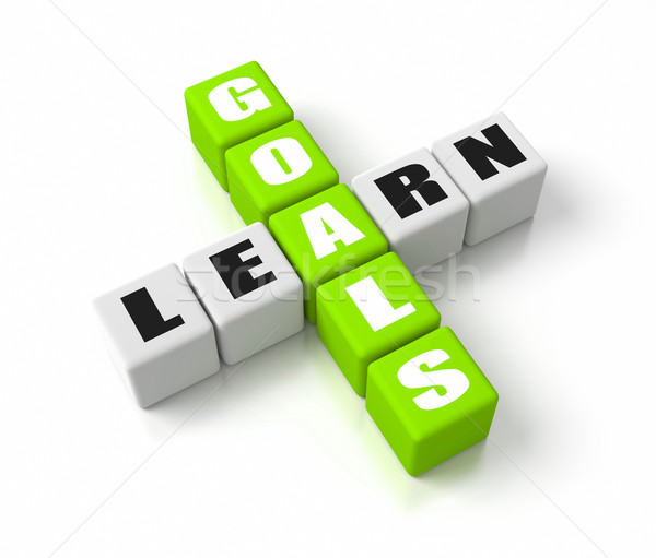 Learning Goals Green Stock photo © OutStyle