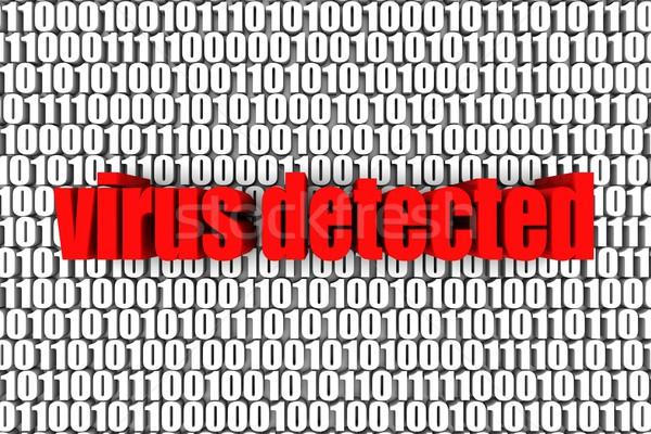 ウイルス バイナリコード 3dテキスト コンピュータ 白 安全 ストックフォト © OutStyle