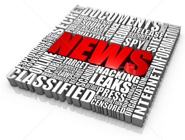 Noticias documento grupo 3D palabras prensa Foto stock © OutStyle
