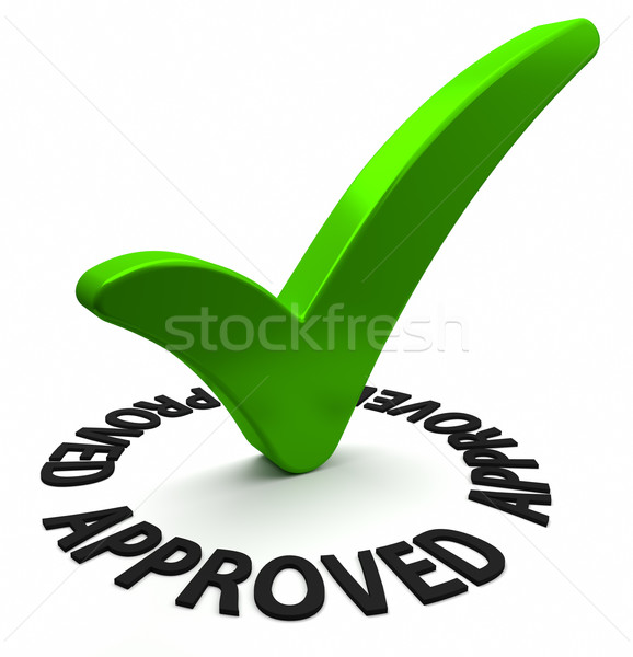 Stock photo: Approved