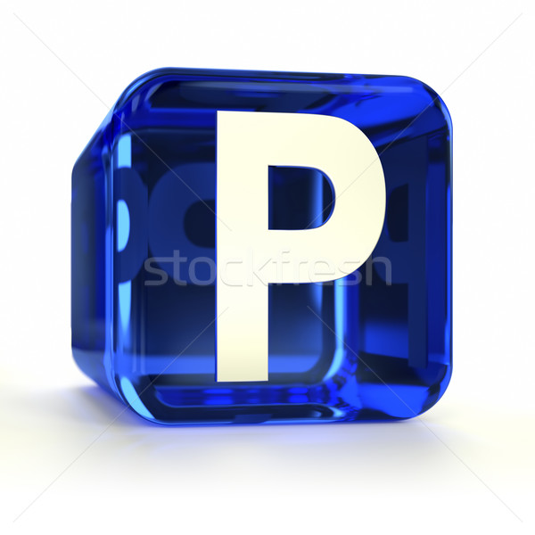 Blue Parking Sign Icon Stock photo © OutStyle