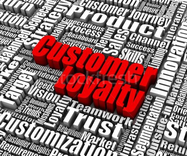 Müşteri bağlılık grup sözler iş başarı Stok fotoğraf © OutStyle