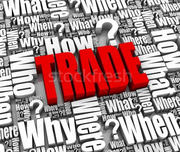 Trade FAQ Stock photo © OutStyle