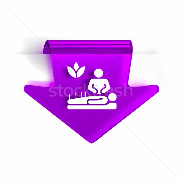 Medicina alternativa vidrio flecha página marcador icono Foto stock © OutStyle
