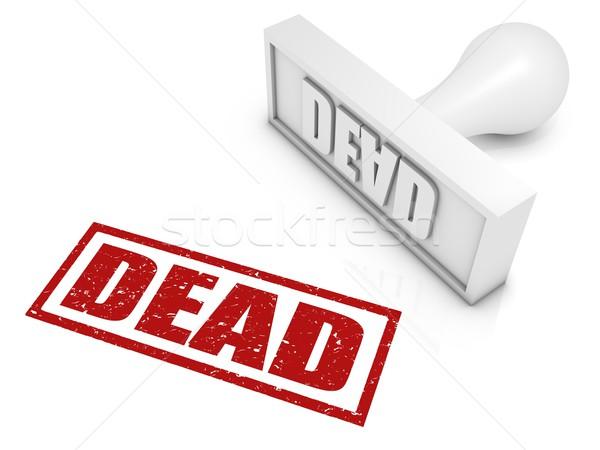 Morti timbro concetti Foto d'archivio © OutStyle