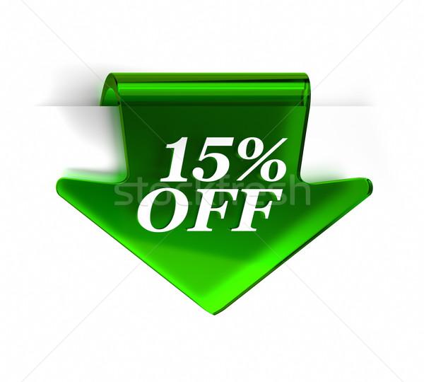 Tizenöt százalék el zöld üveg felső Stock fotó © OutStyle
