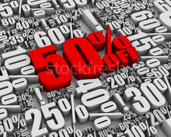 Verkauf 50 aus Batch 3D Worte Stock foto © OutStyle