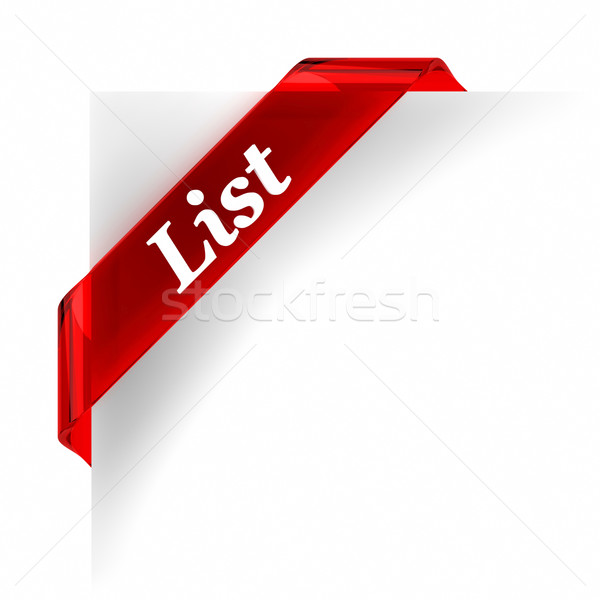 List Red Banner Stock photo © OutStyle