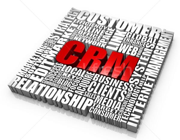 клиентов отношения управления группа crm слов Сток-фото © OutStyle