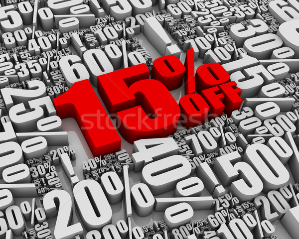 Sale 15% Off! Stock photo © OutStyle