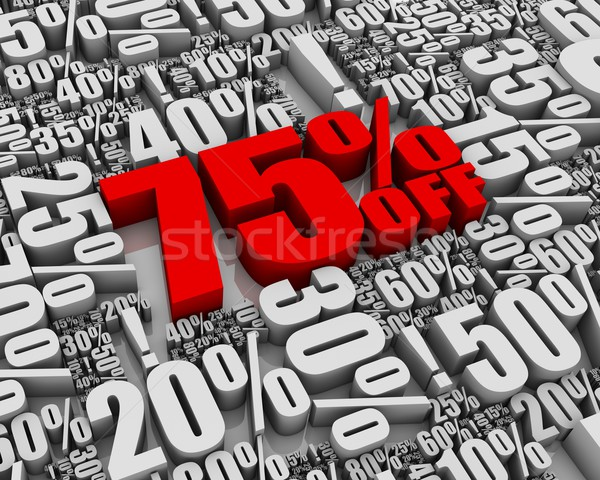 Verkauf aus Batch 3D Worte Business Stock foto © OutStyle