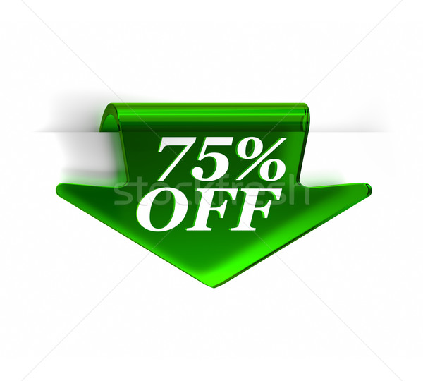 Seventy Five Percent Off Stock photo © OutStyle