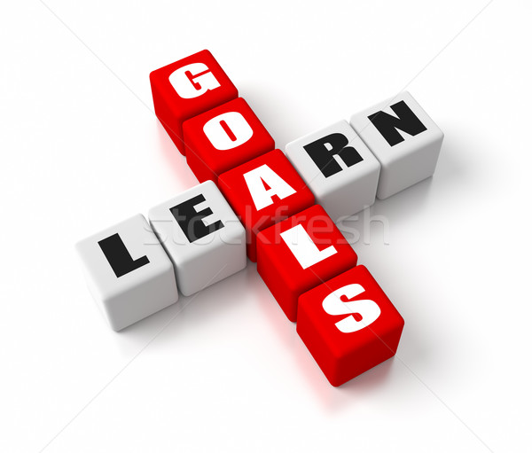 Learning Goals Red Stock photo © OutStyle