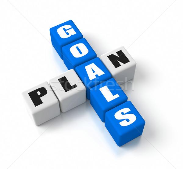 Goals Plan Stock photo © OutStyle