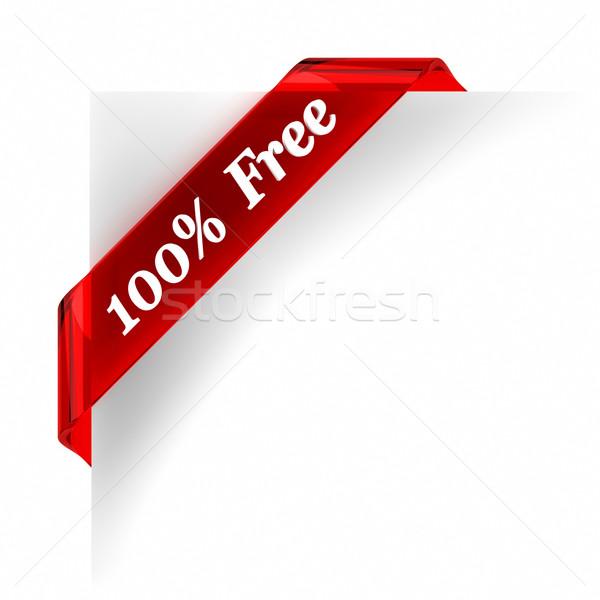 Egy száz százalék szabad piros üveg Stock fotó © OutStyle