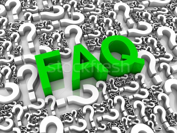 Vaak vragen faq 3d tekst vraagtekens denken Stockfoto © OutStyle