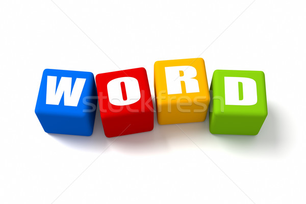 Word Colored Cubes Stock photo © OutStyle