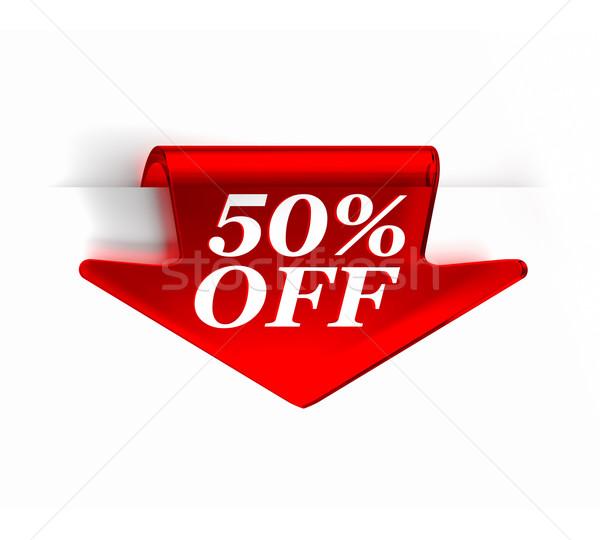 ötven százalék el piros üveg felső Stock fotó © OutStyle
