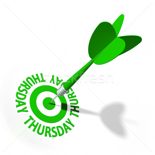 Target dart tekst kalender witte Stockfoto © OutStyle