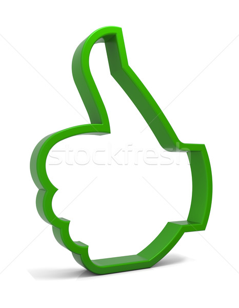 вызывать символ зеленый икона изолированный Сток-фото © OutStyle