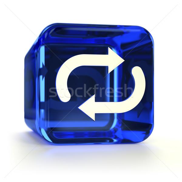 Blue Sync Icon Stock photo © OutStyle