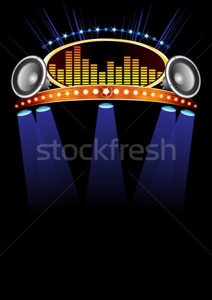 Koncert poszter terv zene esemény fény Stock fotó © oxygen64